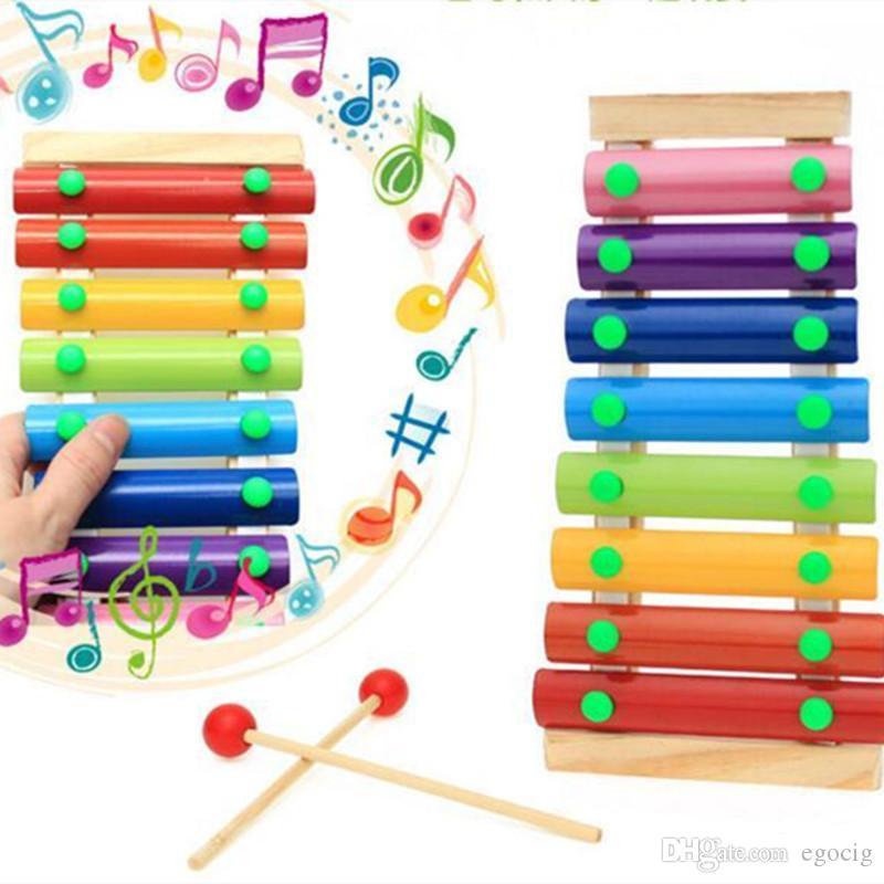 Hölzerne Hand Knocking Klavier Spielzeug-Kind-Musikinstrumente Jugendliche Baby Xylophone Developmental Holz Frühkindliche Bildungs-Spielzeug