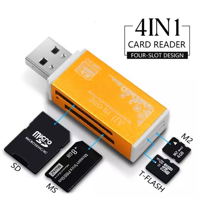 SIM Card Holder case /& Micro SD Card Storage with 3-in-I USB OTG SD Card Reader Yellow