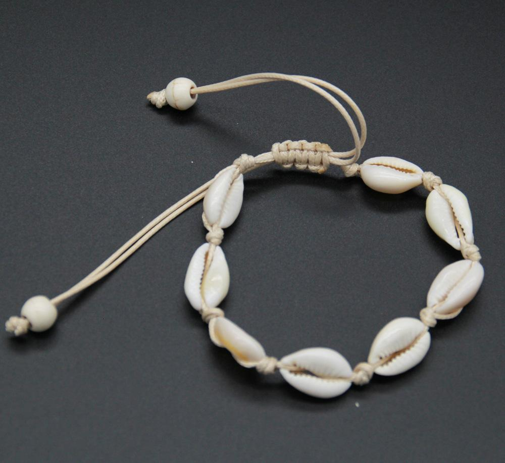 Ornaments Natural Shell Bracelet Manual Tie Weave Shell Ring Anklet Exceed Low Price