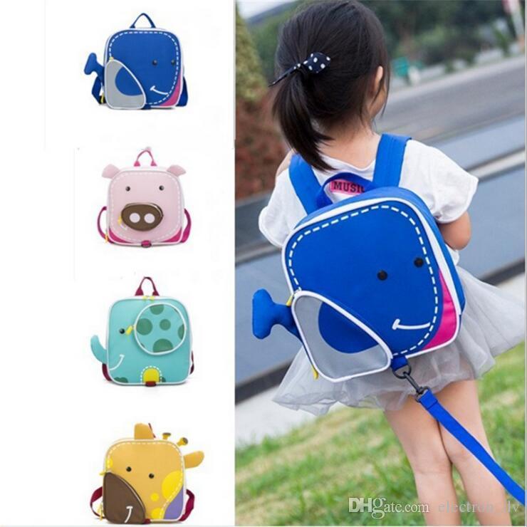 어린이 학교 가방 2018 새로운 안티 분실 배낭 유치원 가방 작은 동물 소년 귀여운 가방