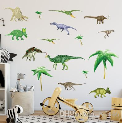 DIY Jurassic World Wall Decals PVC Large Dinosaur Wall Sticker Murals for Kids Room Nursery Wall Decor Removable