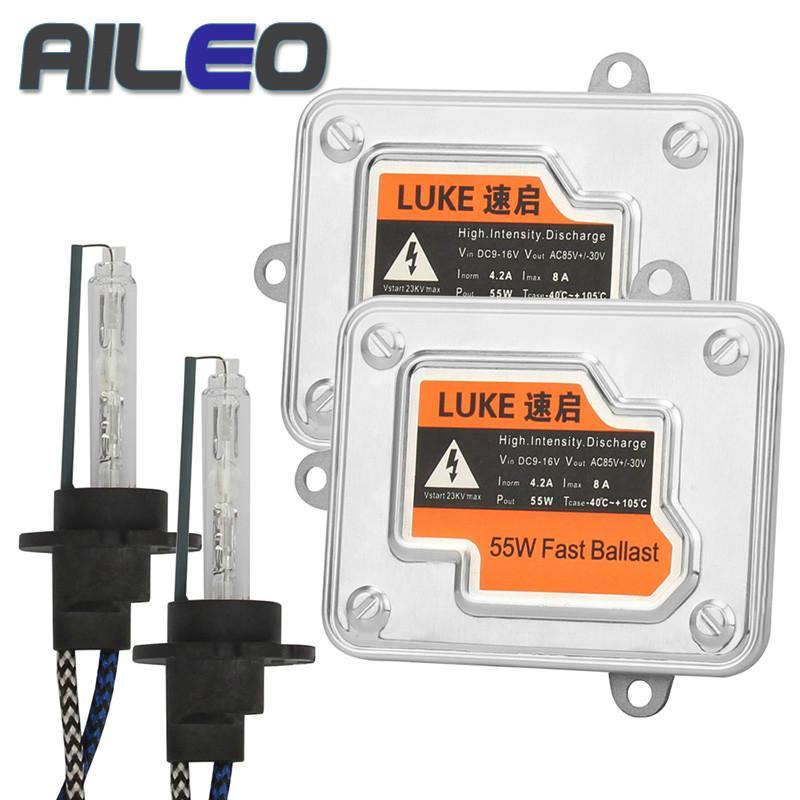 Aileo سيارة المصباح المصباح H4 Xenon H7 H1 H3 H8 H9 H10 H11 H16 (JP) 9005 9005 HB2 HB44300K 5800K 55W HID