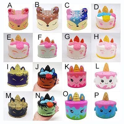 16 STILLERI squishy CutePink unicorn Oyuncaklar 11 CM Renkli Karikatür Unicorn Kek Kuyruk Kek Çocuklar Eğlenceli Hediye Squishy Yavaş Yükselen Kawaii Squishies