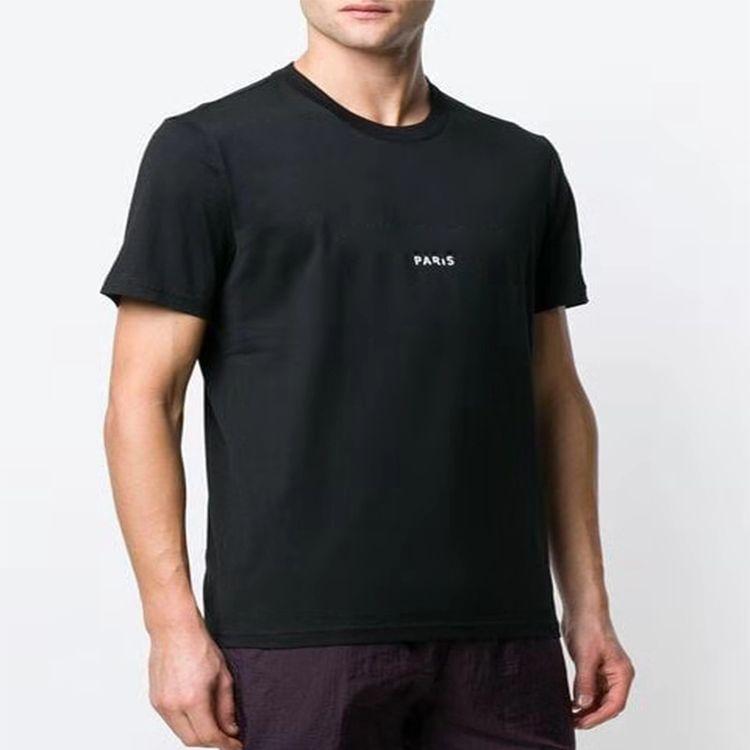 Tasarımcı tişört 19ss Paris Moda Marka Giyim Erkek T Shirt Erkek lüks Giyim% 100 Pamuk Harf Kısa Kollu Casual üstleri tee yazdır
