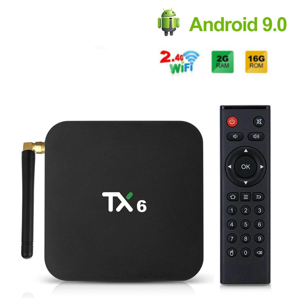 TX6 Android 9.0 TV Box Allwinner H6 Quad Core 2GB Ram 16G Rom WiFi 2.4G Smart TV BOX