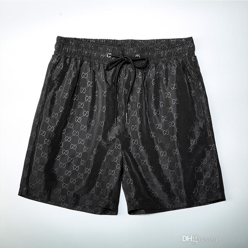 2020 verano al por mayor forman los cortocircuitos El nuevo diseñador de tabla corta de secado rápido traje de baño de la impresión Junta pantalones de la playa de los hombres pone en cortocircuito para hombre