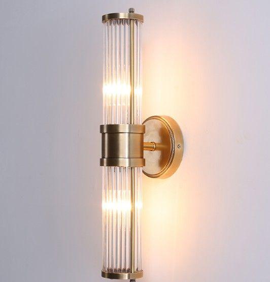 Lampada da parete in cristallo moderno lustro Bronzo / argenteo camera da letto LED applique da parete Apparecchi soggiorno appoggio per cantiere luci LLFA