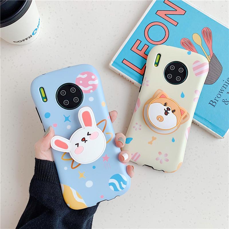 Новый мультфильм Cute Brown Dog Photo Frame Anti-Fall Мягкая пластиковая крышка для Iphone 11Pro MAX XS XR 7 8plus Phone Case водонепроницаемым Huawei