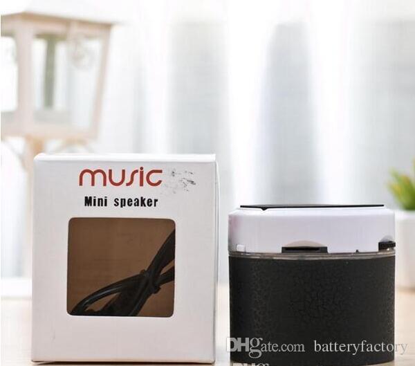 휴대용 미니 깜박이 LED 블루투스 스피커 무선 작은 음악 오디오 TF USB FM 스테레오 사운드 스피커 휴대 전화 플레이어