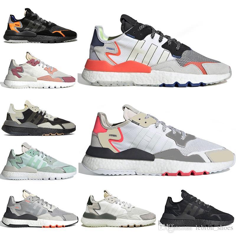 Высокое качество Горячей продажи adidas Nite Jogger 2019 Мужчин и Женщин Мода Досуг Сетка Ткань С Deerskin Повседневная Обувь для Ходьбы 11 Цветов Dropshipping