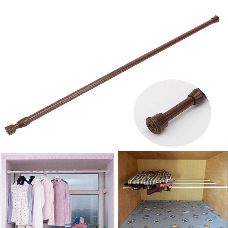 New Adjustable Spring loaded Bathroom Shower Curtain Rod Retractable Extending Telescopic Rod Curtain Accessories Tension Pole