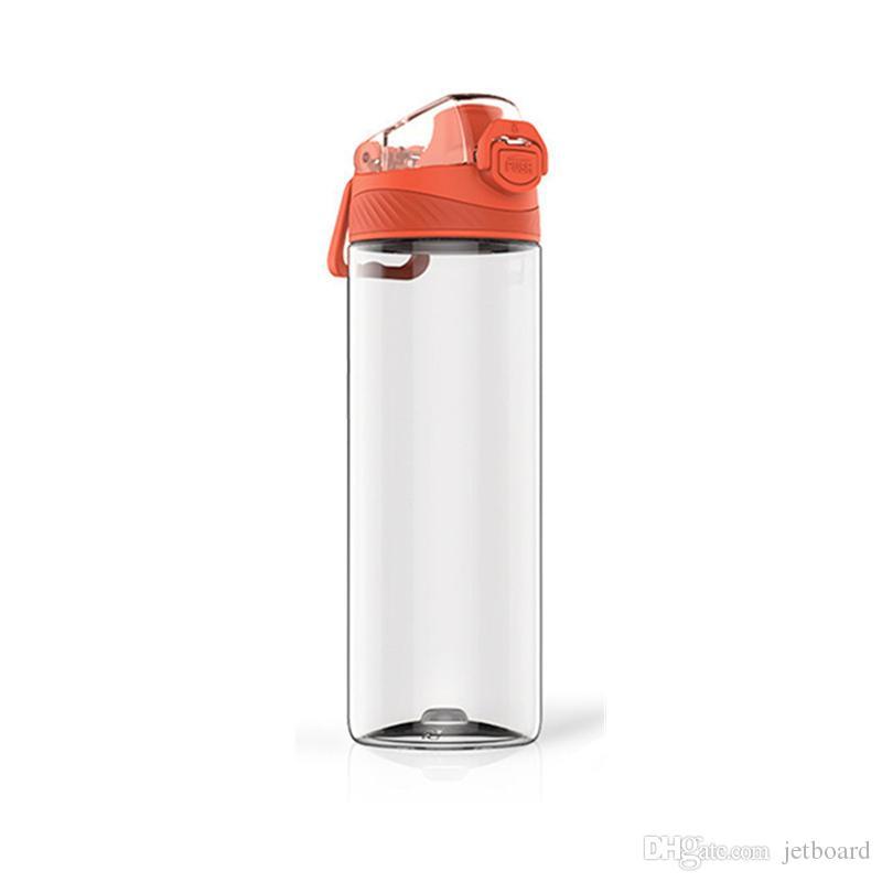 QUANGE 480мл 620 мл Тритан спортивные бутылки воды питьевой чашки чайник BPA бесплатно на открытом воздухе путешествие от Ми jiayoupin - оранжевый L