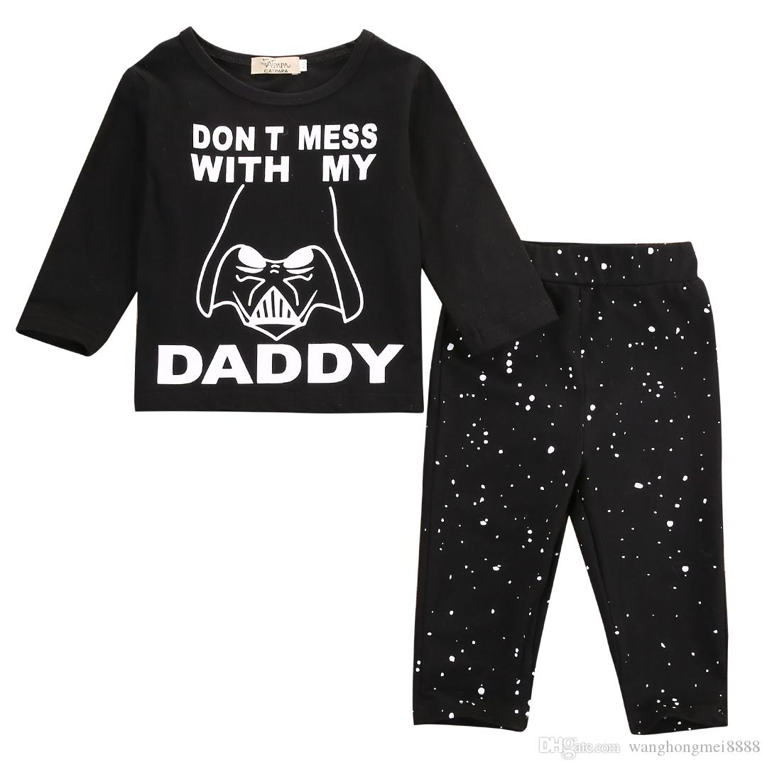 Toddler Infant Baby Girls Boys Kids Cotton Print Tops Hoodies Long Pants Trousers Autumn Outfits Playsuit 2Pcs Clothing Sets