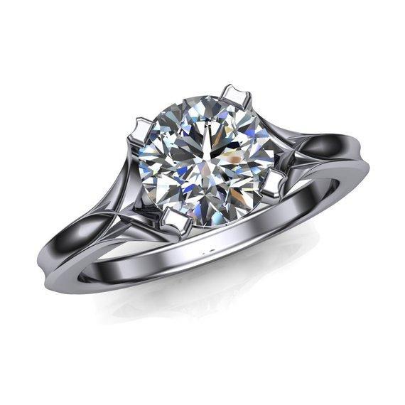 Luxueux, simple et à la mode 925 standard argent sterling bague en diamant naturel véritable diamant albumen mariée amour bijoux de fiançailles 6-10
