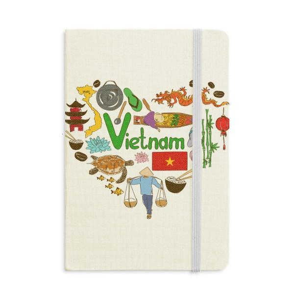 Bandeira Nacional Landscap Vietnam do amor do coração Notebook Tecido clássico capa dura Jornal Diário A5