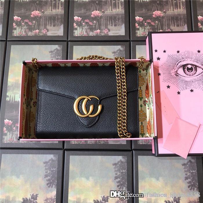 Les femmes dernière mode cowhind importée classique avec carte porte-monnaie en cuir d'accessoires Top Hardware simple sac à bandoulière avec boîte