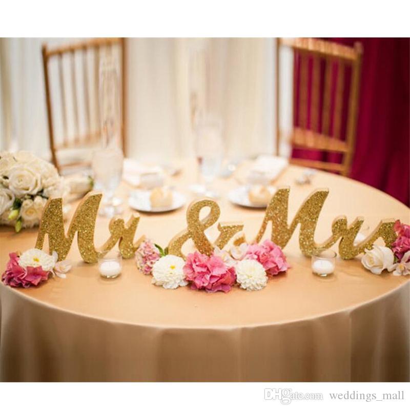 Lettres de mariage MMS Mme Wooden Lettres Mariage Top Table Panneau Cadeau Décor Décorations De Mariage Décorations de mariage Photo Booth accessoires