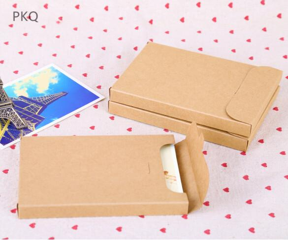 30pcs Vintage Blank Kraft Paper photo box white DIY Multifunction Envelope Postcard Box Package Paper card 15.5x10.8x1.5cm