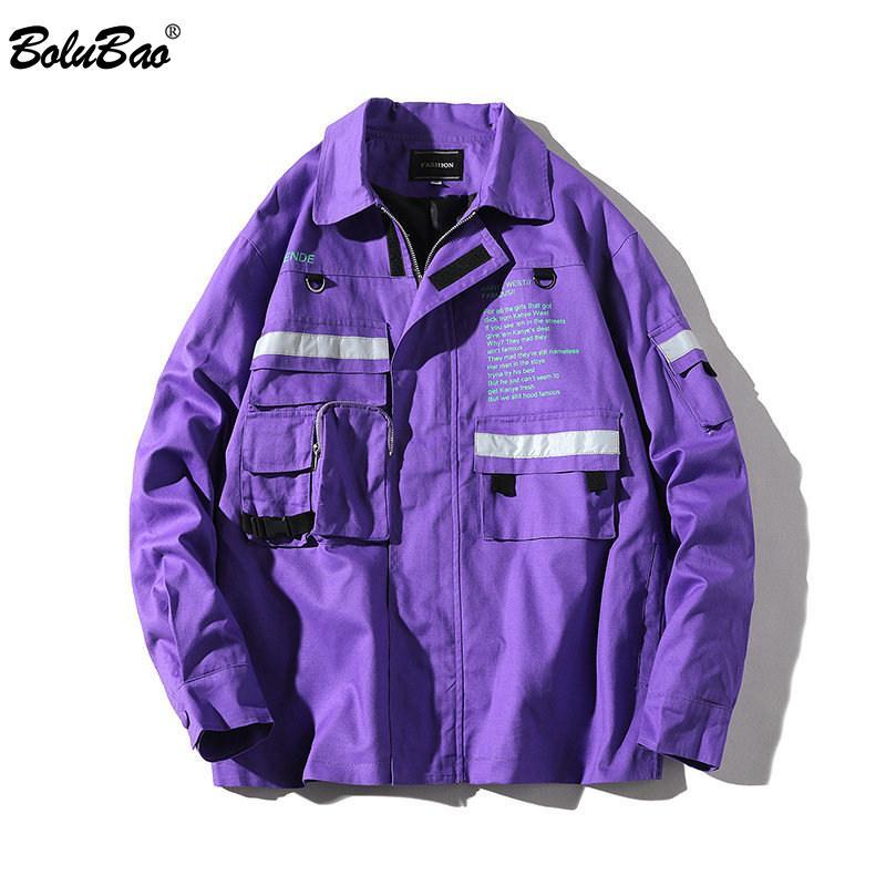 BOLUBAO Moda Marka Ceket Erkekler İlkbahar Sonbahar Erkek Katı Renk Kabanlar Palto Erkek Hip Hop ceketler Coat T200319