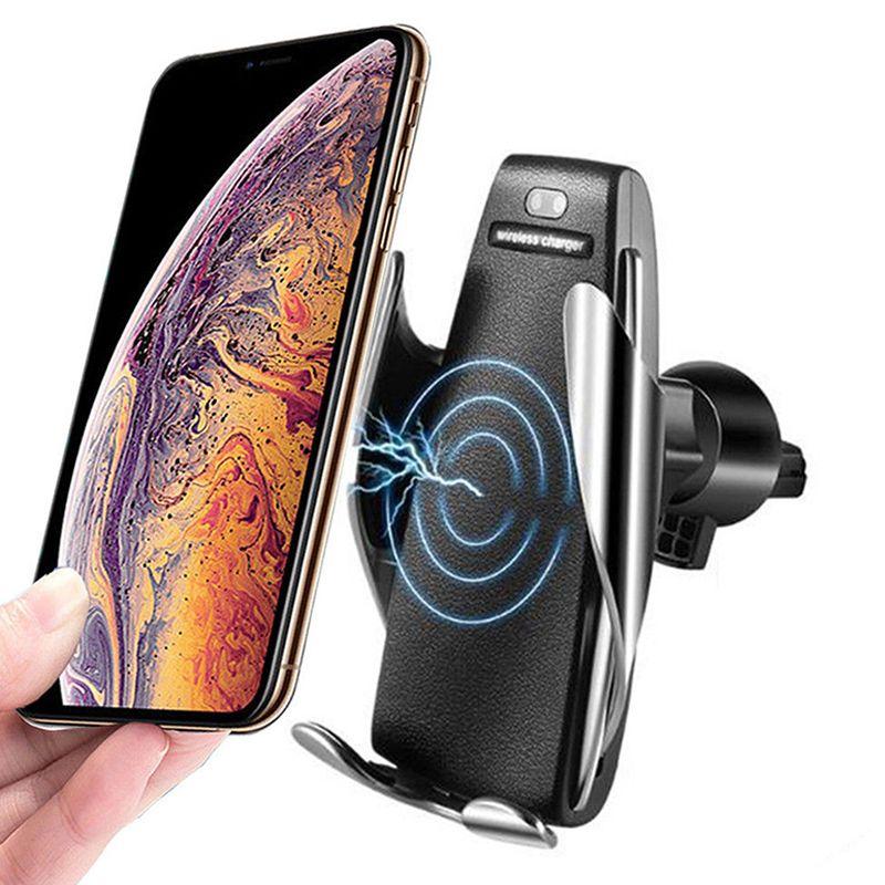 Smart Sensor S5 automatische Spann Drahtlose Auto Ladegerät 10 Watt Smart Sensor Auto Telefon Halter Drahtlose Ladegerät 20 Teile/LOS