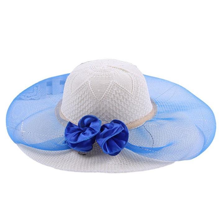 Großhandels-Nagelneue 2019 Frauen-Sommer-Blumen-Sun-Hut faltbar für Strandkopfbedeckungsmode