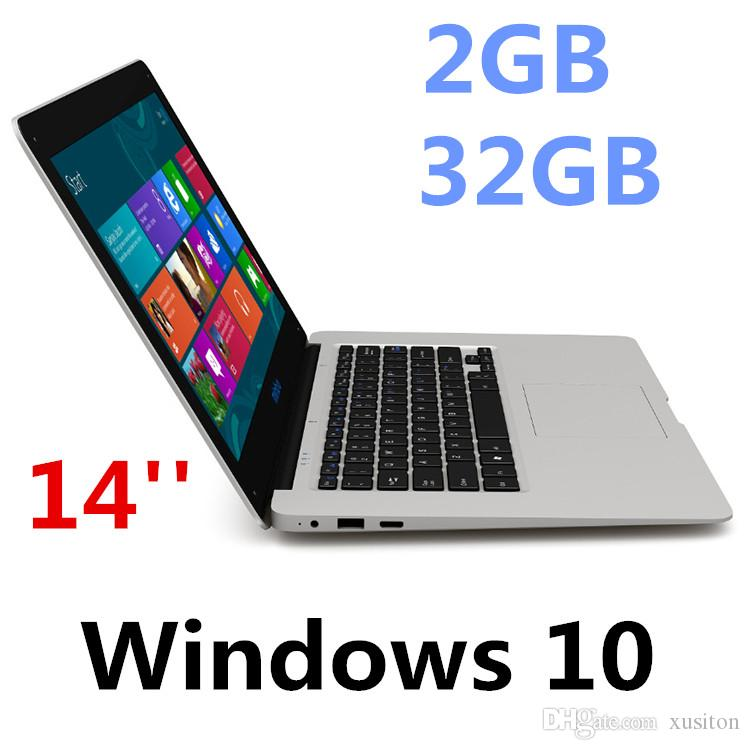 Free Shipping 14inch mini Laptop Computer Windows 10 2G RAM 32G ROM emmc Ultrabook Tablet Laptop Camera USB HDMI with Lowest Price XCTD-1