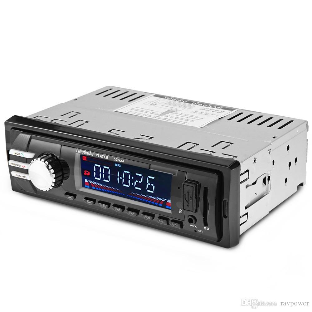 2018B FM car dvd 12V Bluetooth V2.0 Auto Audio Stereo SD MP3 Player AUX USB Hands-free Call