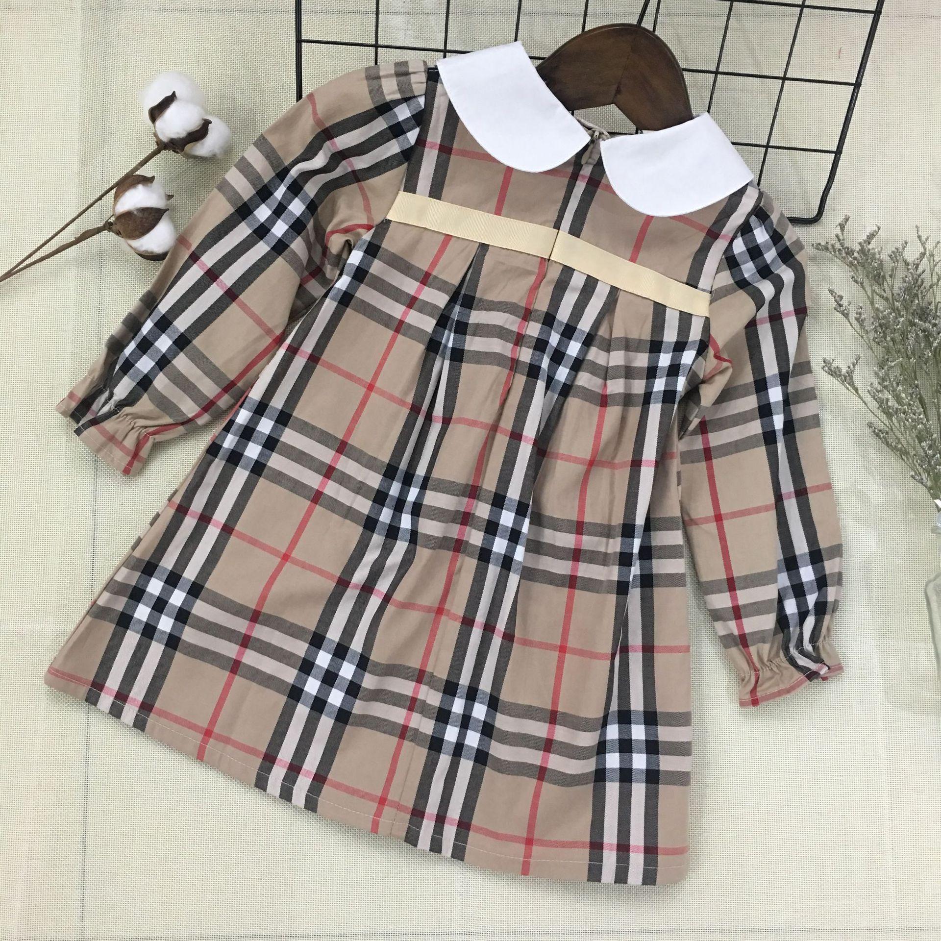 Детская одежда 2019 новых европейских и американских хлопка платье принцессы классические клетчатые юбки девушки юбка детская детская юбка