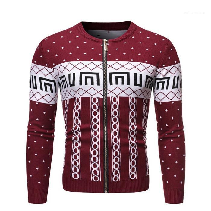 Hombres Ropa Casual Desinger otoño chaqueta de punto de manga larga floral Imprimir Homme ropa de invierno estilo de la moda