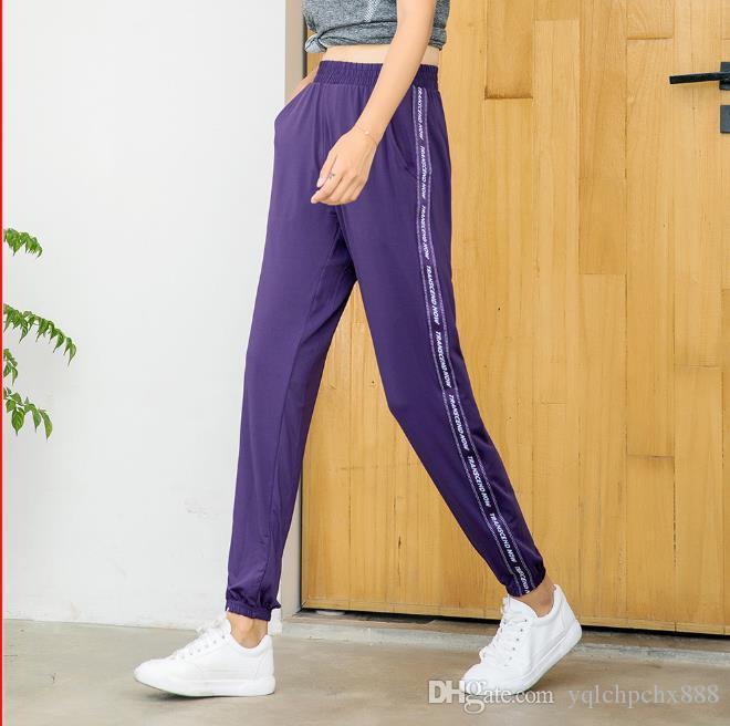 Спортивные брюки женские свободные летние тонкие леггинсы закрытие досуг брюки быстросохнущие беговые штаны Yoga Fitness