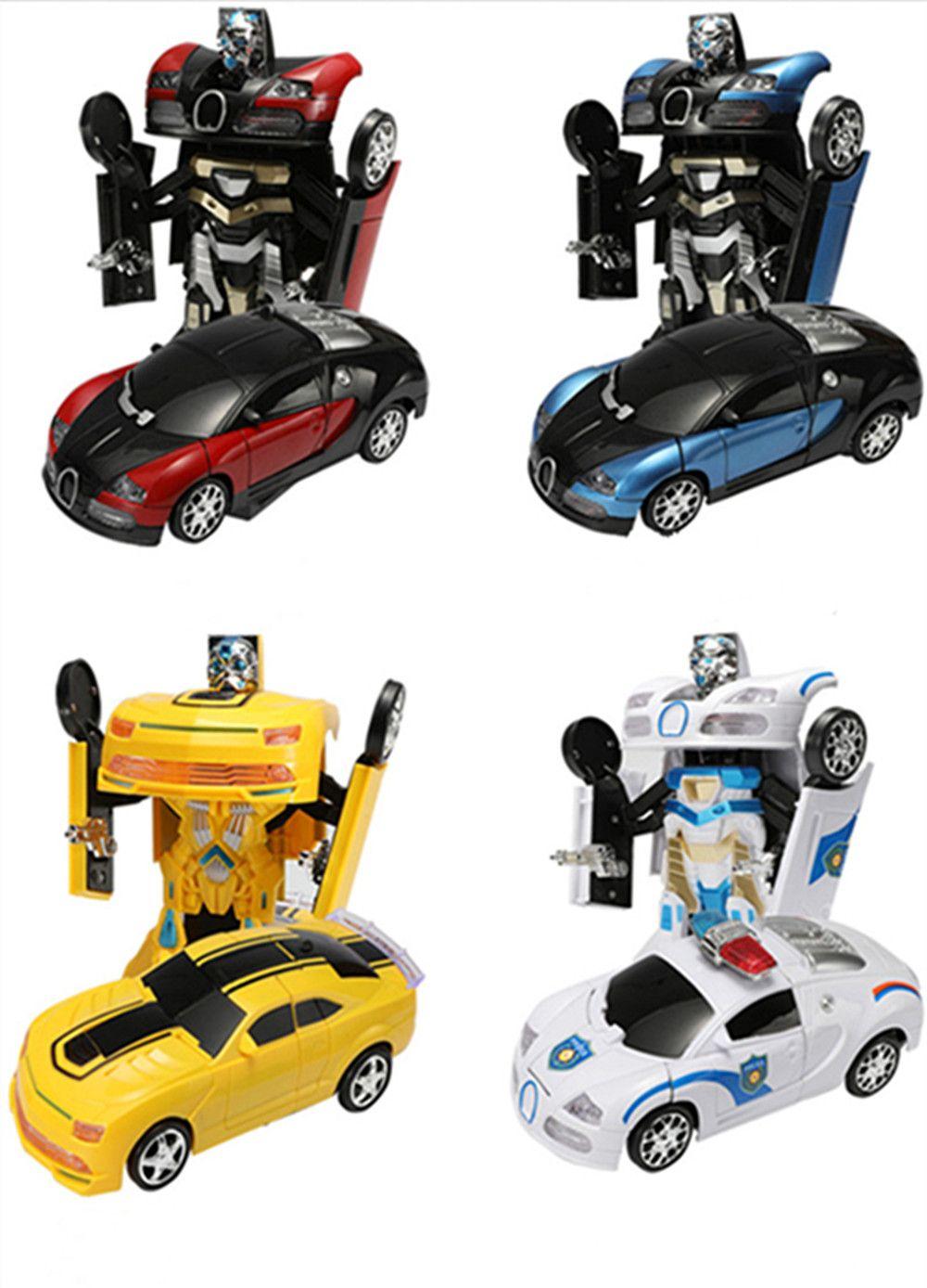 تشوه السيارات الكلاسيكية Transformerring التلقائي روبوت البلاستيك نموذج سيارة ألعاب التعليم للبنين هدايا مذهلة للأطفال سوبر سيارة رياضية الطفل