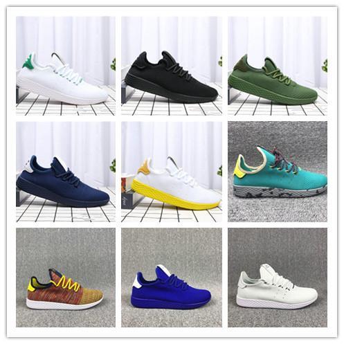 Adidas pw tennis hu 2019 Venda Quente Pharrell Williams x Stan Smith Tênis HU Primeknit homens mulheres Tênis de Corrida Sneaker Tubular Sombra Runner calçados esportivos 36-45