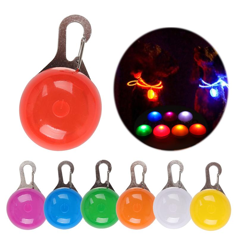 Night Safety LED Flashlight Pet Pandent Glow In The Dark Bright Pets Supplies Accessories Cat Dog Collar Leads Lights