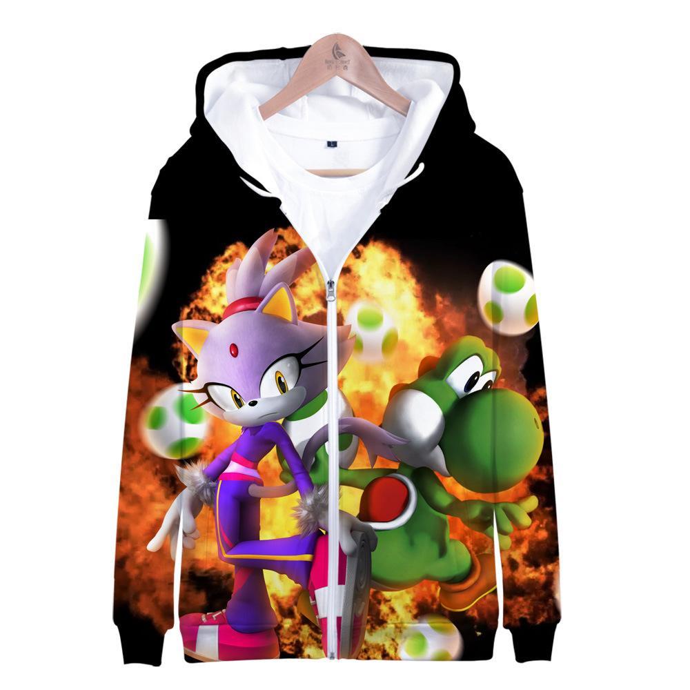 2020 Movie Sonic The Hedgehog Zipper Jacket Boys Girls 3d Hoodie Anime Cosplay Costume School Uniforms Mens Hoodies Sweatshirts From Zhouzhaoyu 13 56 Dhgate Com