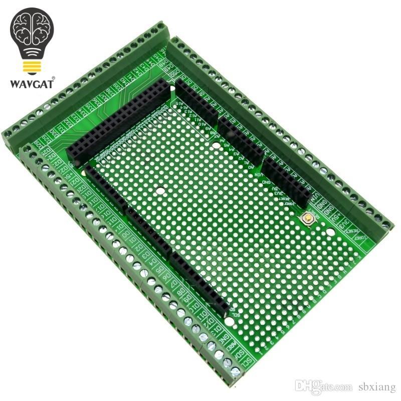 Бесплатная доставка Двухсторонний PCB Прототип Винтовой Клеммный Блок Комплект Для MEGA-2560 Mega 2560 R3 Mega2560 R3