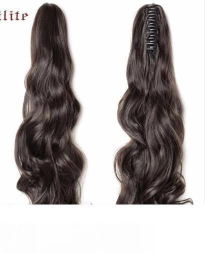 Long Wavy Wrap Around Ponytail Claw In Hair Pieces Real Natural Extensions For Human 2019