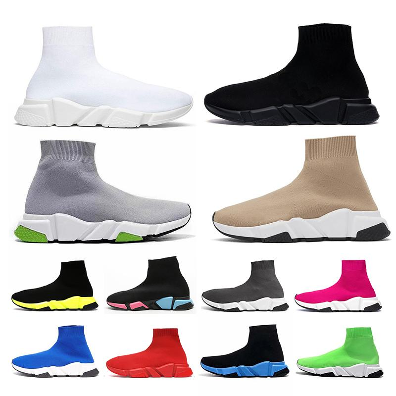 sock shoes luxury designer platform speed trainers casual shoe for mens womens soks vintage tripler black white étoile flat boots sneakers