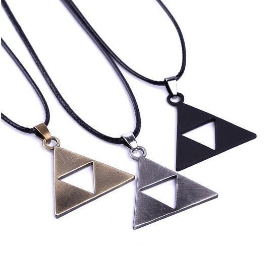 Новый Высокое Качество Легенда О Zelda Triforce Посеребренная Ожерелье Для Женщин Мужчин Горячей Продажи C19041203