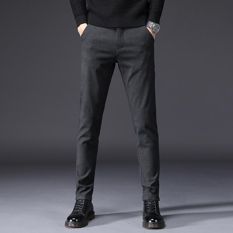 2020 printemps automne hiver Nouveaux Pantalons simple Hommes Coton Slim Fit chino Pantalons Mode Homme Marque Vêtements Taille Plus 38