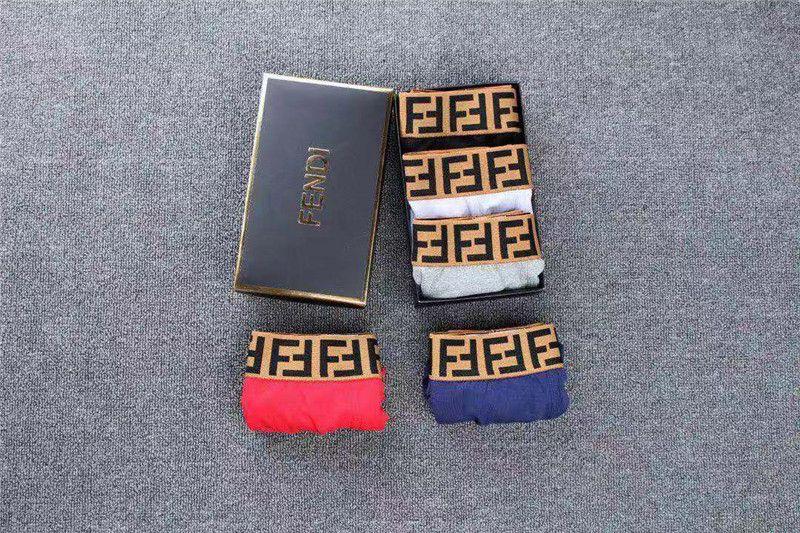 19ss New Luxury arrivo Mens pugile sexy del Mens di marca Mutande casuale Intimo Uomo Slip Homme SENZA SCATOLA B1015273T
