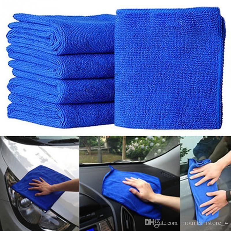 Mikrofaserreinigung Auto Weiches Tuch Waschlappen Handtuch Staubtuch Blau Weiches Saugfähiges Waschlappen Auto Auto Pflege (Einzelhandel)