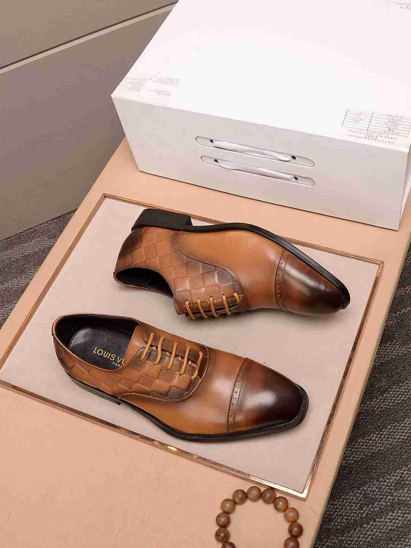 패션 남성 공식적인 비즈니스 드레스 웨딩 편안한 낮은 발 뒤꿈치 가죽 신발 110601
