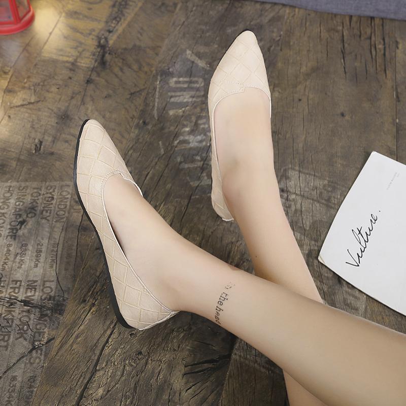 Frauen Schuhe Frau Mujer flach lässig Sommer Frauen Wohnungen Mode Leder Zeh U19-77 Mode Müßiggänger 2020 Schuhe Zapatos spitz lxmwr