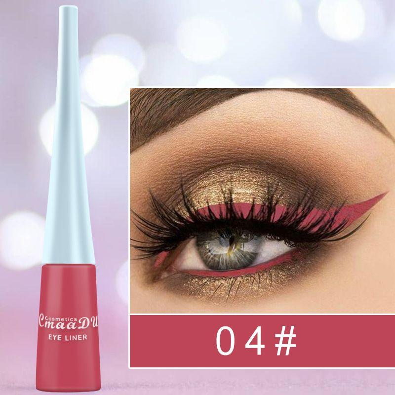 CmaaDu Professional Waterproof Eyeliner Matte Líquido Eyeliner Cor Viva Liner Eye Pencil Longa Duração 12 cores 240 unidades / lote DHL
