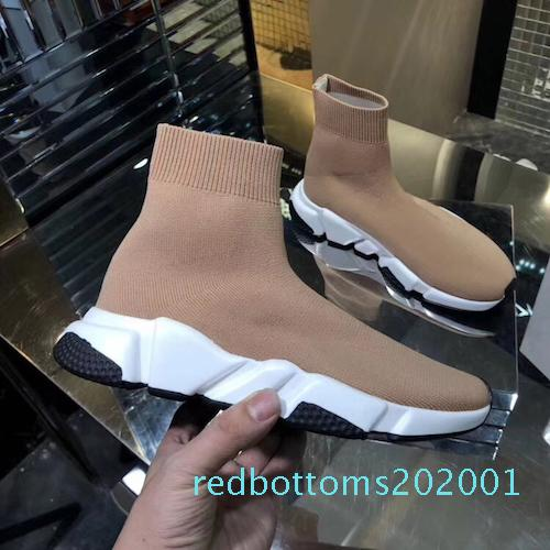 Beat Designer Sneakers en maille stretch speed trainer black Tan men speed mid-top trainer sock sneakers Casual Shoes Runners shoes AF26