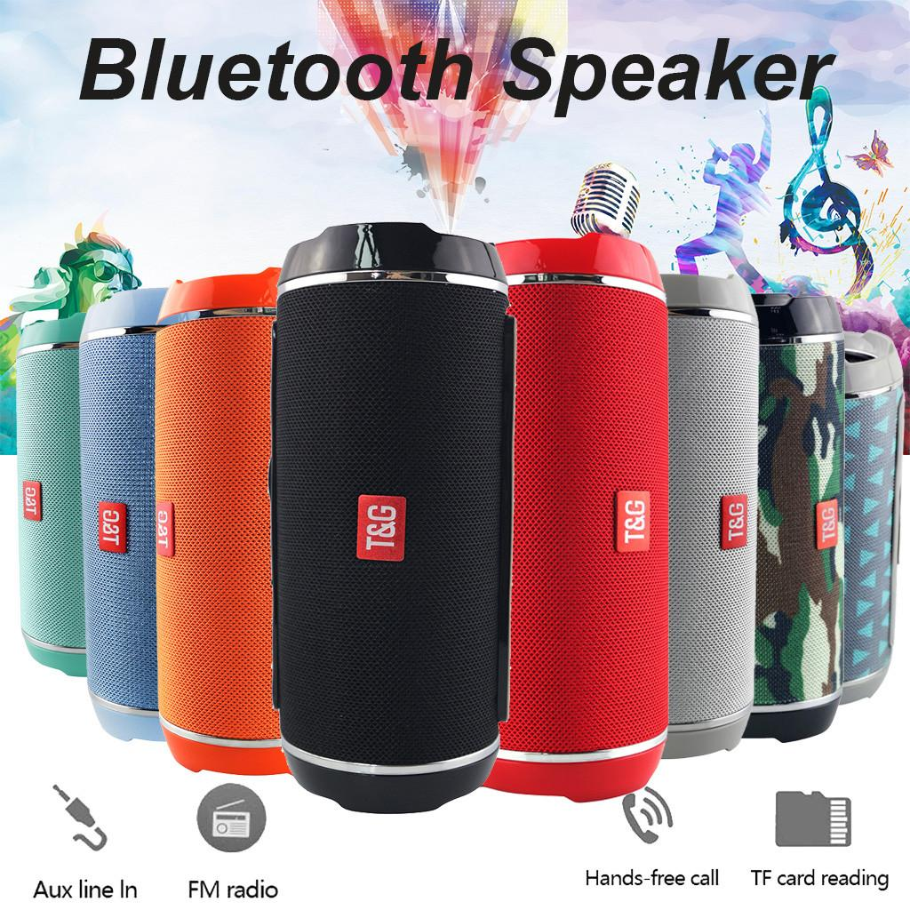Hot TG116 Double Horn Cloth Net Bluetooth Wireless Speaker Mini Portable Speaker Support TF Card Hand-free Mic Stereo For Mobile Phone 2019