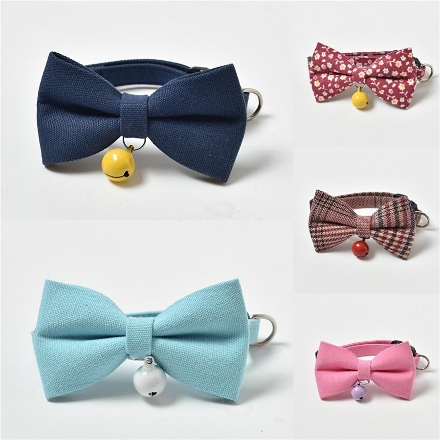 New Plaid Pattern Pet Bowknot Collar Creative Pattern Lovely Pet Leashes Outdoor Street Style Pet Dog Cats Collars & Leashes #473