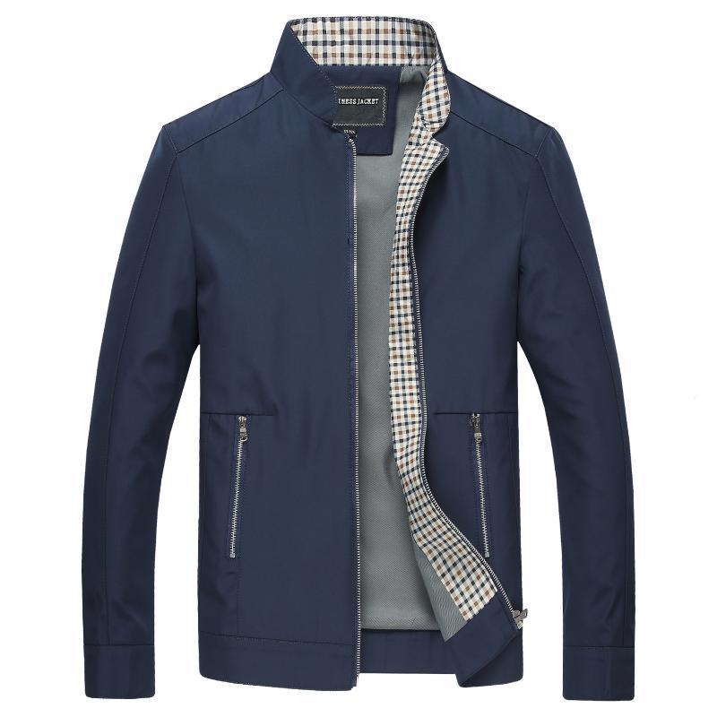 Giacche da uomo Cappotti casual Cappotti di colore solido Mens Primavera Autunno Stand Collar Collar Bomber Giacche 2020 Nuovi vestiti