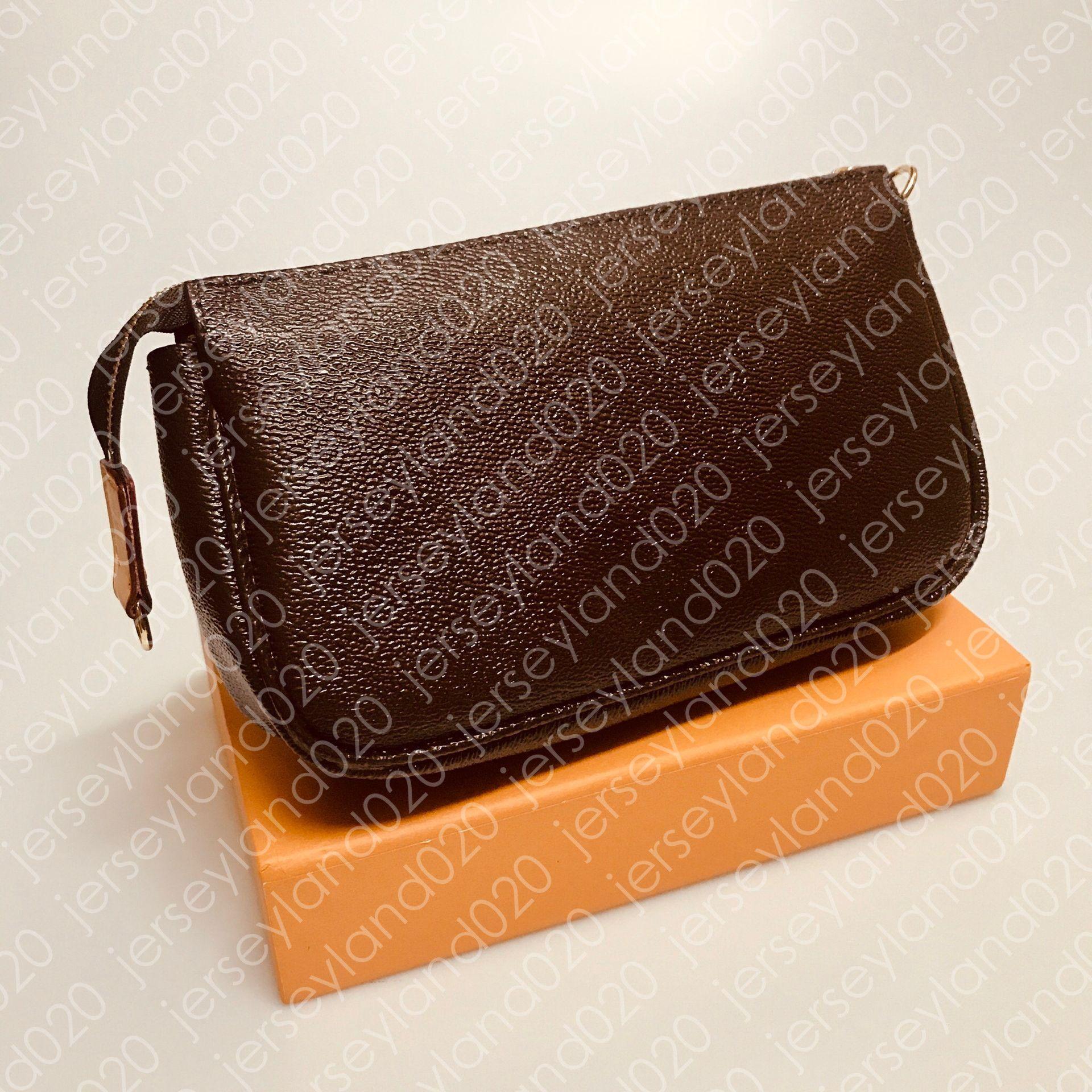미니 Pochette Accessoires M51980 Womens 디자이너 패션 클러치 저녁 미니 핸드백 가방 작은 럭셔리 어깨 핸드백 전화 지갑 캔버스