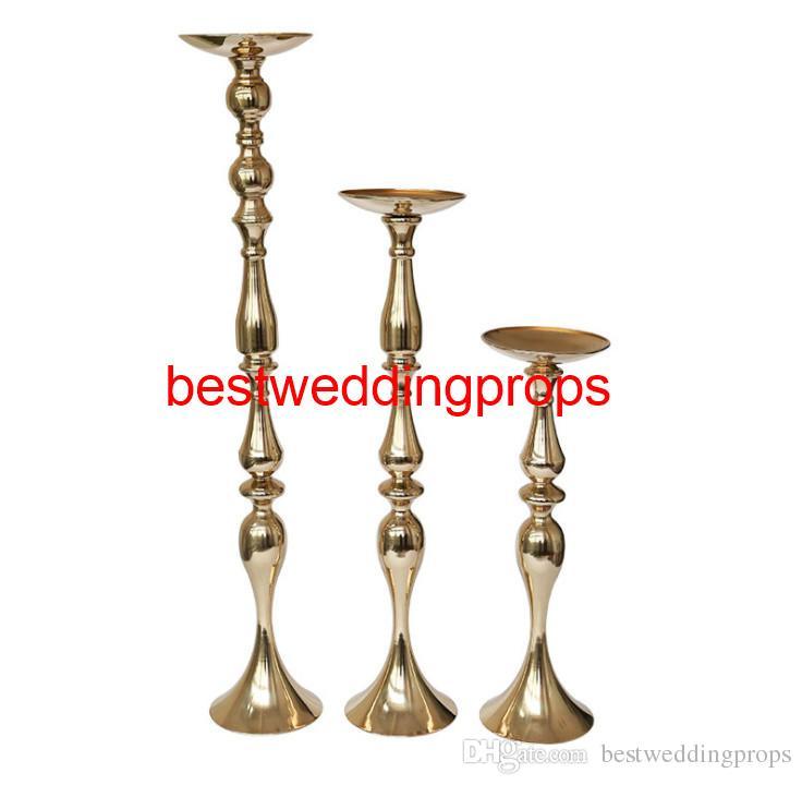 Yeni düğün masa süslemeleri malzemeleri Altın Hint Asya Şanslı altın Düğün masa çiçek top ve tüyler Tutucu best870